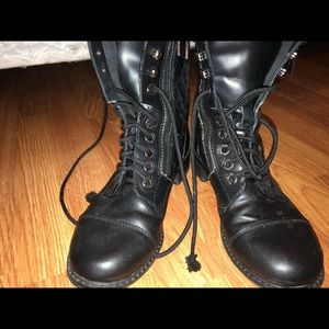 AUTHENTIC Chanel combat boots